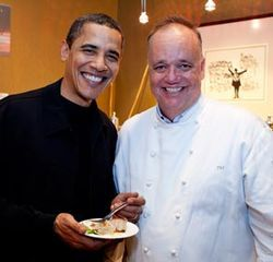 Tony Mantuano e il presidente degli Stati Uniti d'America Obama