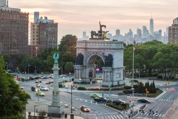 Uno dei simboli del quartiere Prospect Heights a Brooklyn : Grand Army Plaza