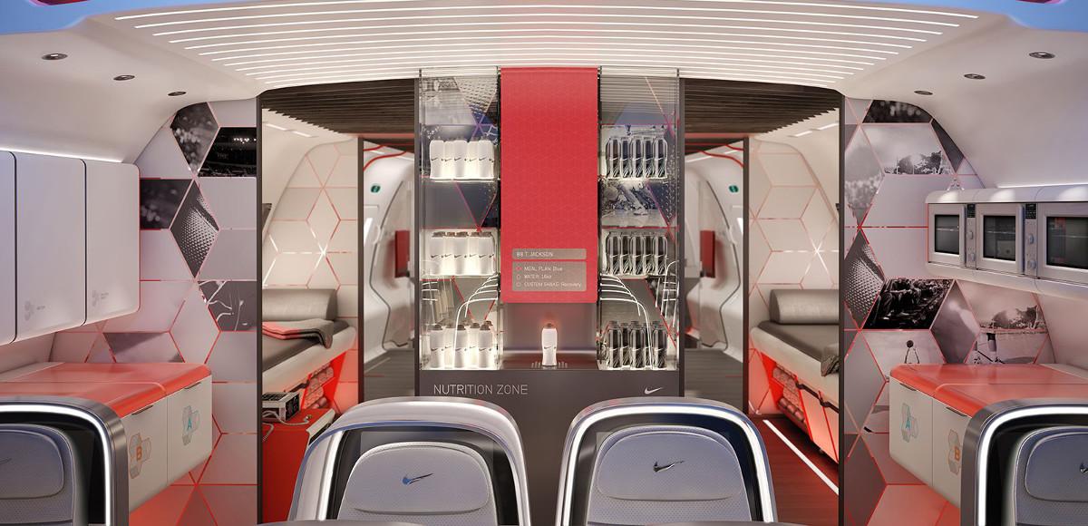 L'allestimento interno del Boeing 787 Dreamliner realizzato sulla base del progetto Home Team Advantage