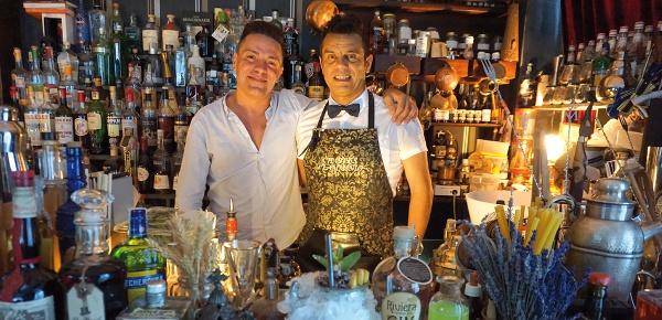 Belludi Quarantadue Riccione il bartender Charles Flaminio e Matteo Bomba