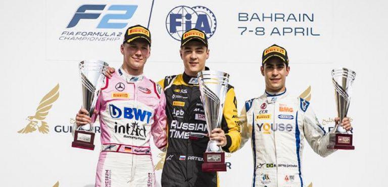 Artem Markelov si aggiudica il podio di FIA FORMULA 2 Bahrain