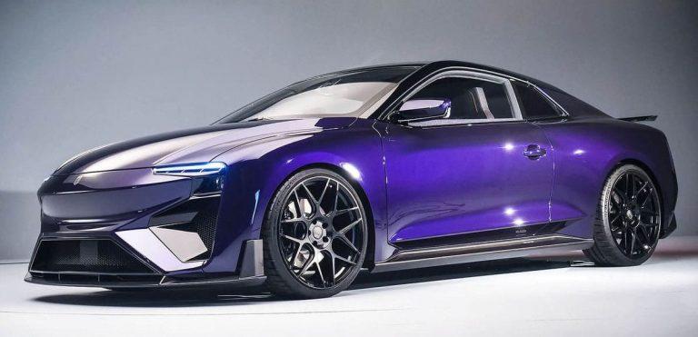 La vettura elettrica a metanolo Aiways RG Nathalie presentata al Salone di Pechino