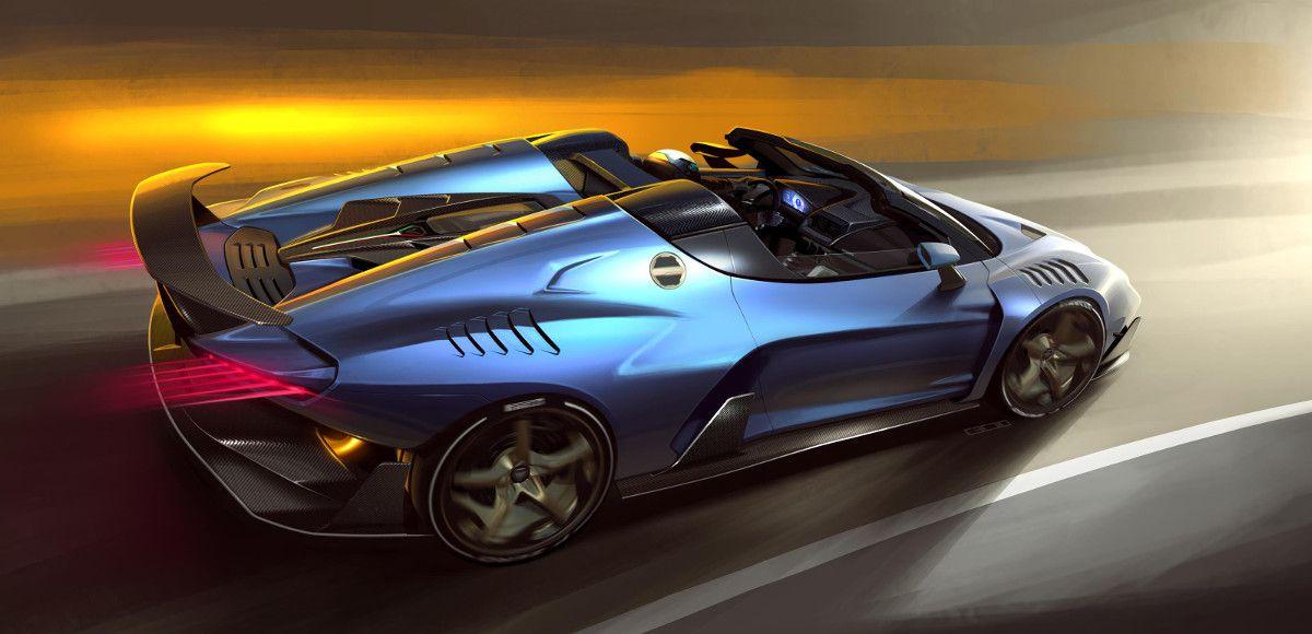 La supercar Italdesign Zerouno Duerta che parteciperà al Goodwood Festival of Speed