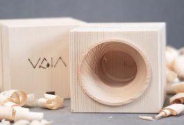 Vaia Cube: l'amplificatore in legno che sostiene la ricostituzione delle foreste