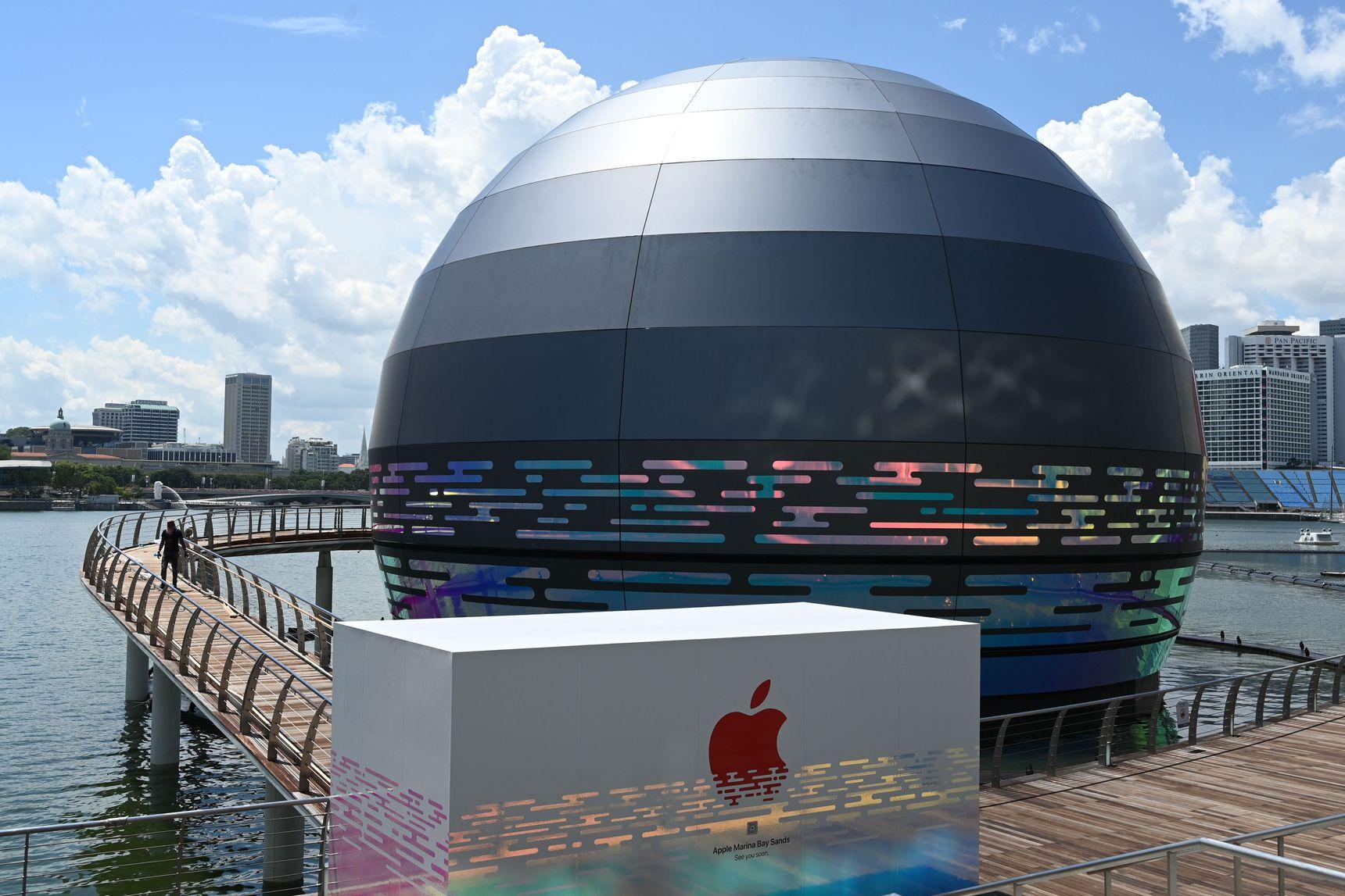 Apple Marina Bay Sands Singapore Il primo Apple Store galleggiante