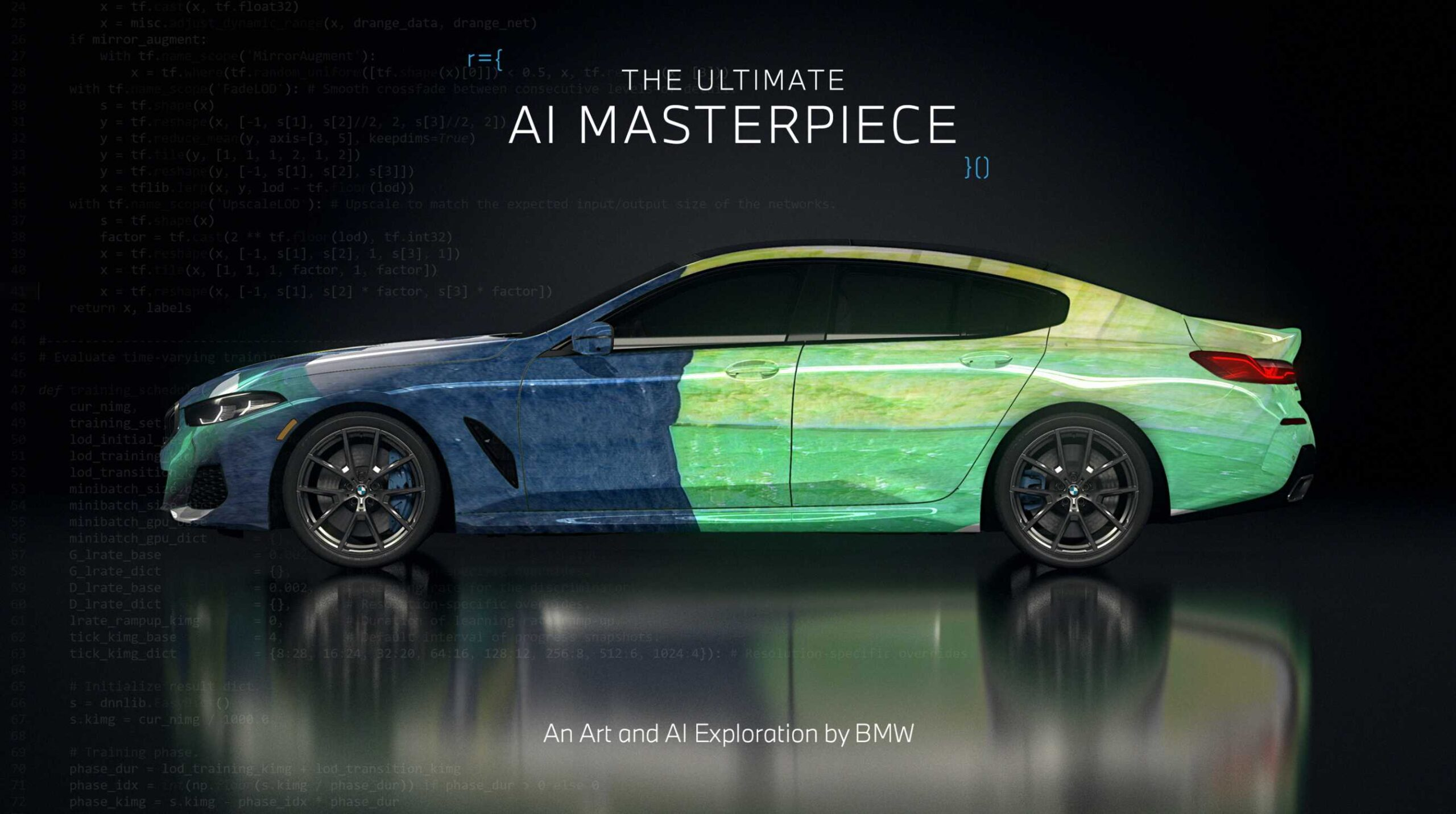 BMW The Ultimate AI Masterpiec: Arte e AI si incontrano, la Serie 8 Gran Coupé si trasforma in una tela!