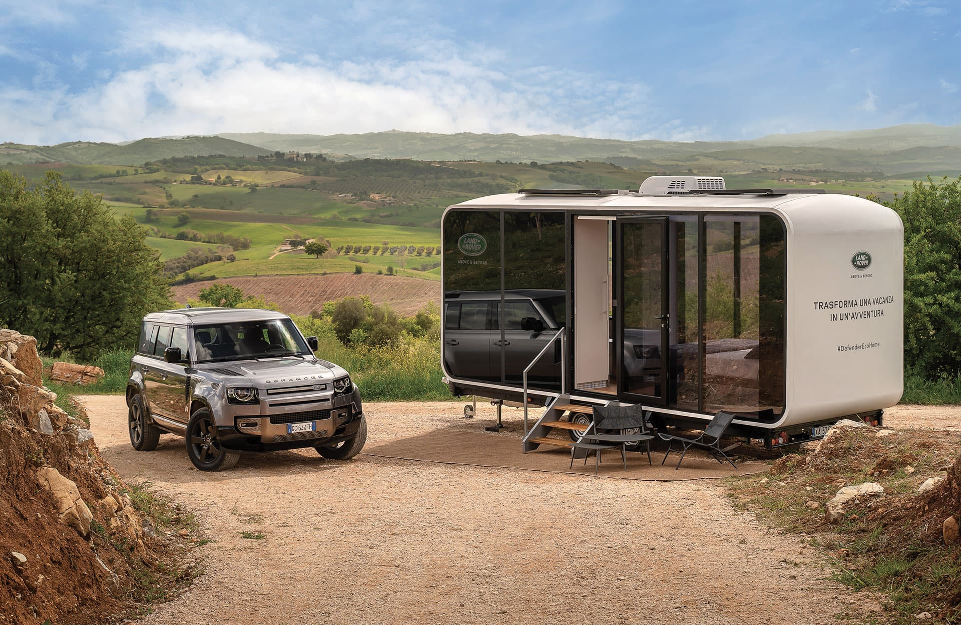 Defender Eco Home: in viaggio sotto le stelle con Land Rover e Airbnb